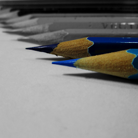 by Iyay Rose - Artistic Objects Education Objects ( blue, pencil, object )
