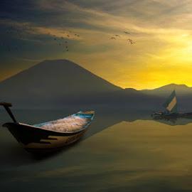 Twilight Ocean by Alfa Oldicius - Digital Art Places
