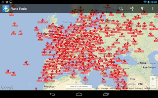Screenshot of Plane Finder Free