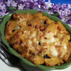 Creamy Butternut Squash and Spinach Gratin