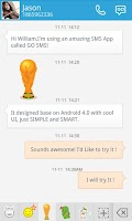 Screenshot of GO SMS PRO SOCCER STICKER