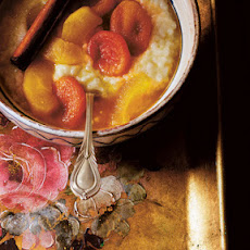 Tapioca with Stewed Apples and Apricots