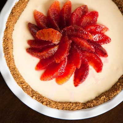 No-Bake Blood Orange Pie
