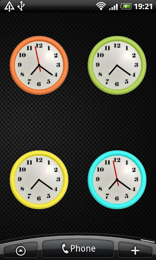 Custom Colour Clock Widget