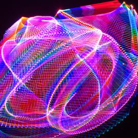 Asteroid ! by Jim Barton - Abstract Patterns ( laser light, light design, colorful, laser design, laser, asteroid, laser light show, space, light, design, science )