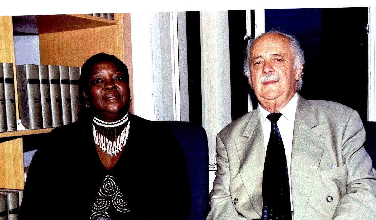 30 years after the death of Steve Biko , Mrs Ntsiki Biko and Adv. George Bizos attend the opening of the Steve Biko Centre for Bioethics  at the University of Witwatersrand , Johannesburg