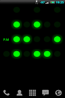 Screenshot of Binary Clock Live Wallpaper