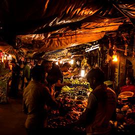 #NightMarket by Shafeeq Basheer - City,  Street & Park  Street Scenes ( #nightlife #streetphotography #bangalore #canon  #night photography )