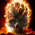 Skull In Flame Live Wallpaper icon