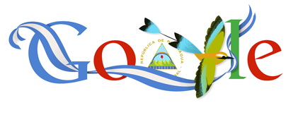 Google Doodle Nicaragua Independence Day 2013