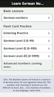 Screenshot of Learn German Numbers, Fast!