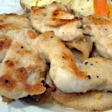 Pan Fried Chicken Medallions in Creamy Basil Parmesan Sauce