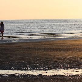 contemplation by Jeannette Halsall-Parry - Landscapes Beaches