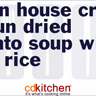 Union House Cream of Sun-Dried Tomato Soup with Wild Rice