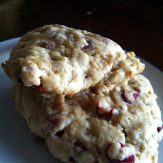 Fresh Cranberry and Candied Ginger Scones