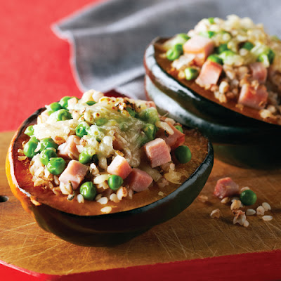 Ham & Swiss-Stuffed Acorn Squash