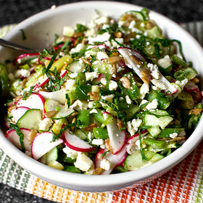 Chopped Salad With Feta, Lime And Mint (smittenkitchen.com)