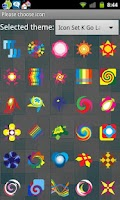 Screenshot of Icon Set K Go Launcher EX
