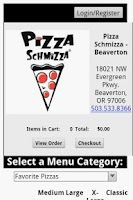 Screenshot of Pizza Schmizza