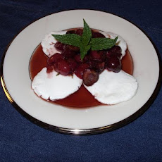 Cherry Compote over Goat Cheese