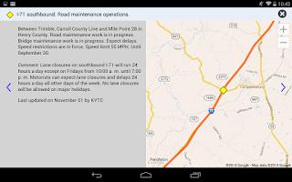 Screenshot of Kentucky 511