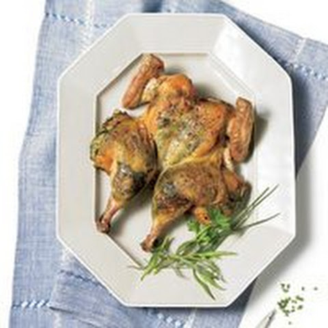 Pan-Roasted Butterflied Chicken with Fresh Herbs