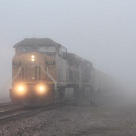 A foggy morning by Keith Stewart - Transportation Trains