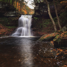 Sullivan Falls, 2014.10.18 by Aaron Campbell - Instagram & Mobile iPhone ( pawilds, sullivanfalls, iphone5s, autumn, waterfall, pennsylvania, october, sgl13, sullivancounty )