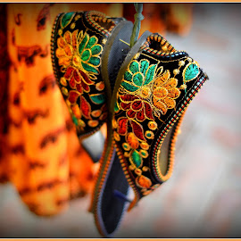 shoes by Prasanta Das - Artistic Objects Clothing & Accessories ( shoes, embroidered )