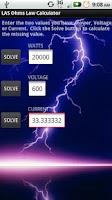 Screenshot of LAS Ohm's Law Calculator