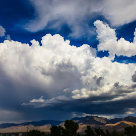 Cloud Explosion by Leslie Nu - Landscapes Weather ( stormy, wild, mountains, desert, weather, cloudscapes, landscapes, light, sun rays )