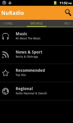 nuradio for android screenshot