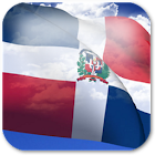 3D Dominican Flag icon