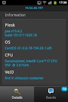 Screenshot of Plesk Monitor