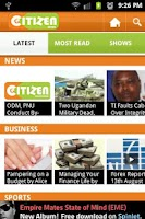 Screenshot of Citizen News