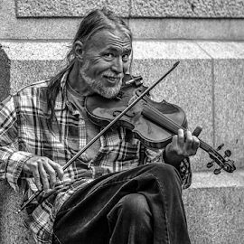 -= The Violin Man =- by Happy Punkky - People Musicians & Entertainers (  )