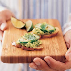 Soybean-Mint Crostini