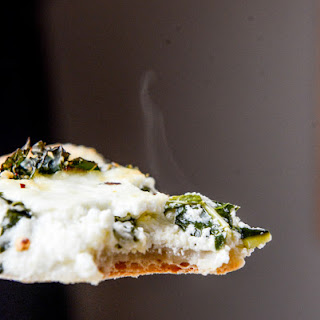 Marinated Kale and Whipped Ricotta Pizza