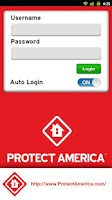 Screenshot of Protect America SMART Connect