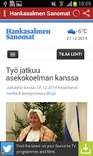 Finnish Newspapers - screenshot