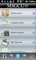 Screenshot of MSGCU Mobile Banking