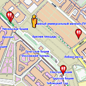 Moscow Amenities Map