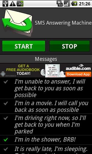 SMS Answering Machine Free