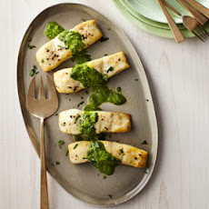 Baked Halibut with Sauce Verte