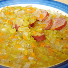 Slow Cooker Split Pea Sausage Soup
