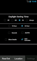 Screenshot of Sunrise Sunset Calculator
