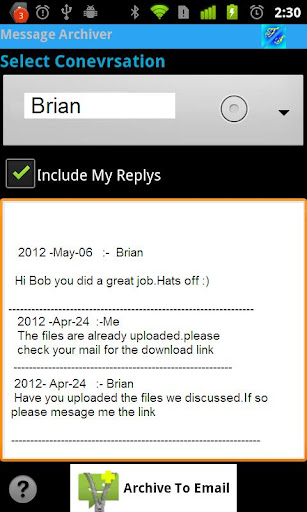 Message Archiver free