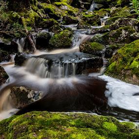 Winterbrook Falls Walk. by Robert Stanley - Landscapes Mountains & Hills (  )