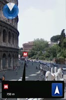 Screenshot of Rome Metro Augmented Reality