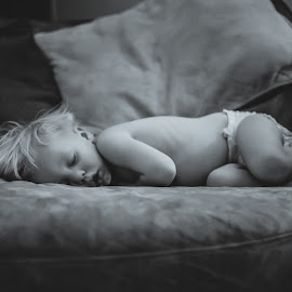 Peaceful Sleep by Angela Sweeney Sellards - Babies & Children Toddlers ( resting, wore out, baby, sleeping, toddler )